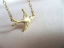 Silver or Gold Plated Little Swallow Small Bird Charm Bracelet in Gift Bag/Box
