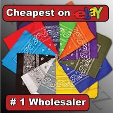 COTTON Lot wholesale 1 dozen Bandanas head wrap scarf