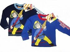 FIREMAN SAM:2014 LONG SLEEVE NAVY OR BLUE L/ T SHIRT,1/2,3/4,5/6YR,NEW WITH TAGS