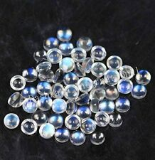 2mm-10mm Natural Rainbow Moonstone Cabochon Round Calibrated Size Loose Gemstone