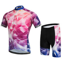 Uriah Men's Short Sleeve Bicycle Clothes Cycling Jersey and Spandex Shorts Set