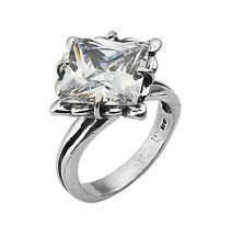 Sterling Silver 925 Ring Solitaire Ring White CZ White Women's Ring
