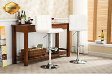 Air Lift Adjustable Bar Stool 2 Comfortable Leather Seats Luxurious Modern NEW