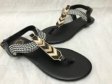 New!! Women's Juicy Couture 73277 Coco Slingback Sandals Black/Wht SIZE 9 F54