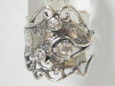 925 Sterling Silver Ring Statement Ring White CZ White Ring For Women