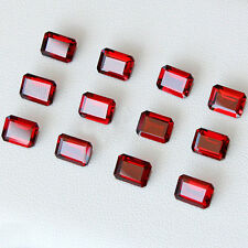Natural Red Garnet Faceted Cut Octagon 3x5mm - 8x10mm VS Quality Loose Gemstone