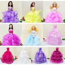 Multi Layer Bridal Wedding Dress Strapless Gown Clothes for Barbie Doll Accs10''