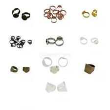10pcs Multi Size Bezel Adjustable Ring Base Tray Blank Setting Jewelry Findings