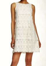 MAX STUDIO Off White Lace Overlay A Line S/L Dress NEW Womens Sz M