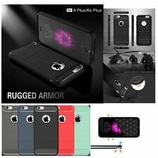 Shockproof Hybrid  Carbon Fiber TPU  Brushed Case  For Apple iPhone 6 6S Plus