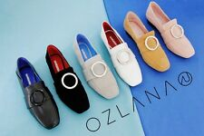 OZLANA Top class Lamb skin/chamois leather Women/Lady  Loafer Mules-Two styles