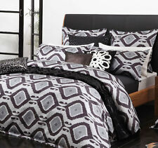 New Logan & Mason Zade Indigo Quilt / Doona Cover Set Queen, King or Super King
