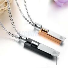 Stainless Steel Couple Love Girlfriend Boyfriend Lovers Pendant Necklace Chain