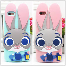 Cute Bunny Judy Rabbit Silicone Rubber Soft Case Cover For iPhone/Samsung/Xiaomi