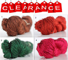 Clearance Sale 100% Silk Hand Embroidery Thread - Hand Dyed 1 Skein 50 Grams 2