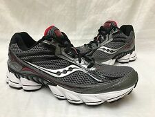 New!! Mens Saucony S25238-4 Grid Nitro 2 Running Shoes Charcoal/Red L35
