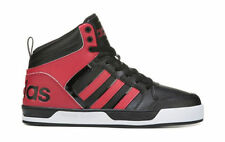 ADIDAS MENS NEO RALEIGH 9TIS HIGH TOP SNEAKER RED SHOES **WORLDWIDE SHIPPING