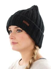 Barts Cap Beanie Hat Winter hat black Fleece lined knitted warming