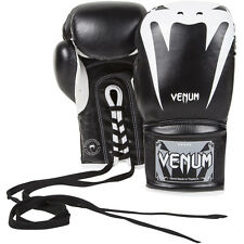 Venum Giant 2.0 Nappa Lace Up Leather Boxing Gloves - Black