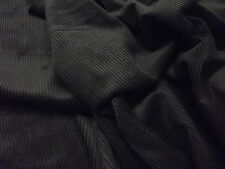 Cotton CORDUROY Fabric Material 8 Wale - BLACK