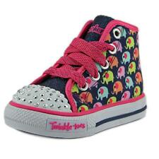 Twinkle Toes By Skechers Cheerful Chuckles   Round Toe Canvas  Sneakers