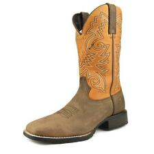 """Durango Mustang 12"""" Western Men  Square Toe Leather Brown Western Boot"""