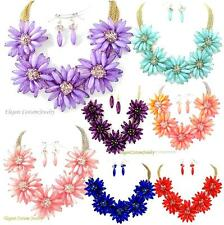 Your choice Summer Chunky Flower Necklace Set Elegant Fashion Costume Jewelry