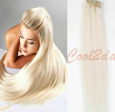 #60 Blonde Clip in Human Hair Extensions Blonde Virgin Real Human Hair Straight