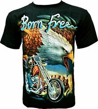 Born Free T-Shirt * Rock Chang * eagle animals biker black Sz s l xl xxl R505