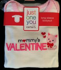Carters Just One You Baby Infant Long Sleeve Bodysuit Girl Mommys Valentines Day
