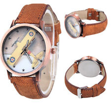 Quartz Unisex Analog Stars Airplane Watch Denim Wrist Watch Femmes 1Pcs Canvas
