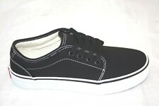 NEW MEN'S VANS 106 VULCANIZED BLACK/WHITE LOW TOP LACE UP  VN-099ZY2B