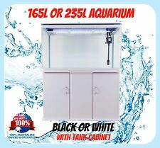 AQUARIUM FISH TANK - 165L 235L with CABINET SMD LED Light Pump Package Glass