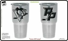 Pittsburgh Penguins (Set of 2) for Yeti Cup Vinyl Decal NHL Car Sticker Cornhole