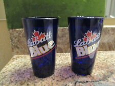 Labatt Blue Cobalt Blue Beer Glasses Set of 2 Set Of 2 Cobalt Blue Glass Labatt