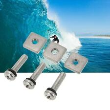 3 Surfboard/Longboard Fin Screw And Plate Accessories For Outdoor Sports R6F7