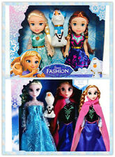 3PCS hotsale Playset Frozen Princess Elsa&Anna&Olaf Doll Figures Birthday Gift+-