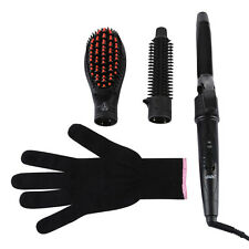 Professional 3-in-1 Electric Ceramic Iron Hair Curler Curling Wand Roller LED