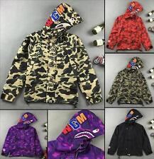Men's Japan Classic Regular Letters Bape Shark Jaw A Bathing Ape Hoodie Jacket