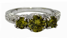 18K White Gold Filled Flawless Zircon Women's Ring Size 8,8.5 In - FREE Shipping