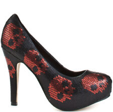 Shoes court shoe digiskull platform black red Iron Fist Iron Fist