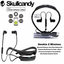 Skullcandy SMOKIN BUDS 2 Wireless Bluetooth Earphones with Mic Black white New