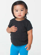 American Apparel Kids Infant Tri-Blend T-Shirt - Sizes 3 mos - 2T. Tri Black