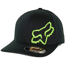 Fox Head Racing Flex 45 Flexfit Hat (Black/Lime Green) Men's Stretch Cap