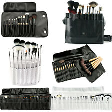 Professional Beauty Cosmetics Soft Makeup Brush with Luxury Leather Bag Set