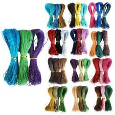 3x Jewelry Making Cotton Waxed Cord String Thread for Necklace Bracelet 80m 1mm