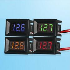 2 Wire DC 2.5-30V LED Panel Digital Display Voltage Meter Voltmeter 0.36 4 Color
