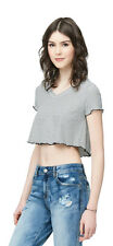 aeropostale womens striped v-neck crop top