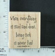 Stampin' Up rubber stamp, GREETINGS 3