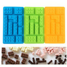 New Building Bricks Silicone Ice Cube Tray Candy Chocolate Mould